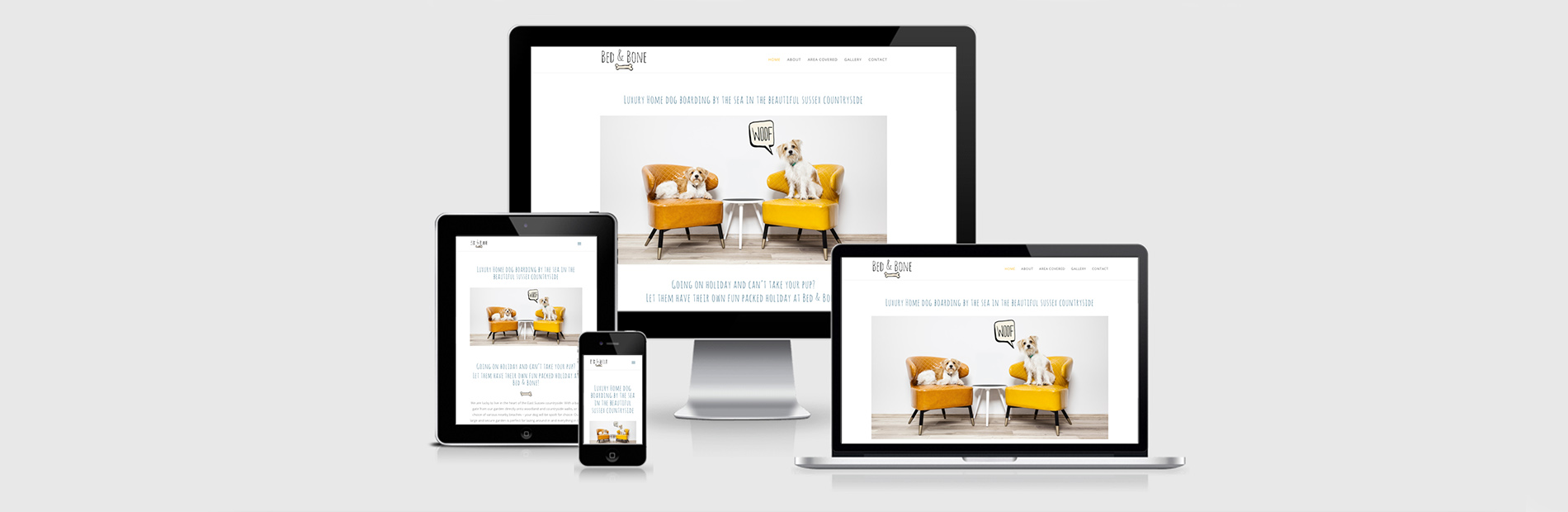 Bed & Bone Luxury Dog Boarding Website Design