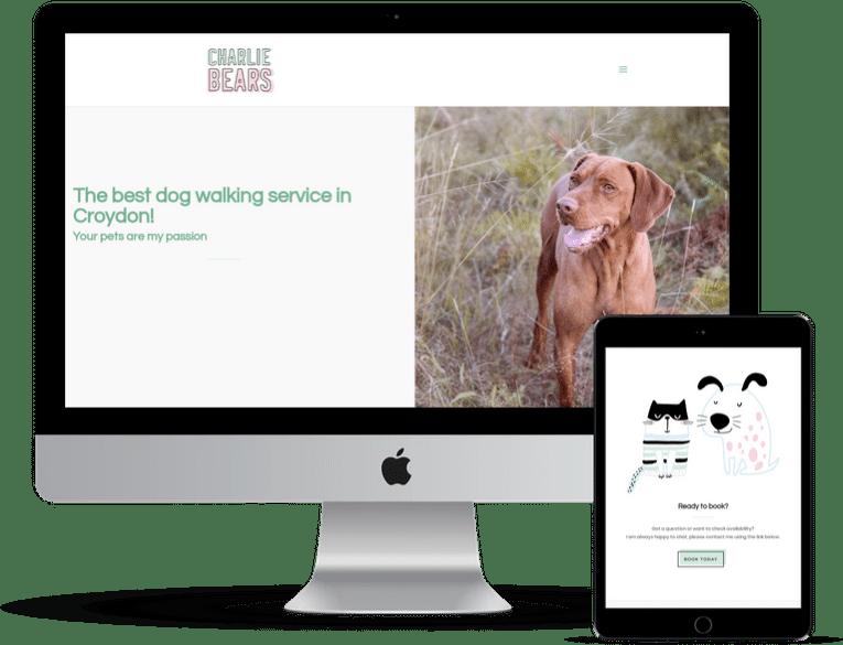 Charlie Bears Pet Care Website Design