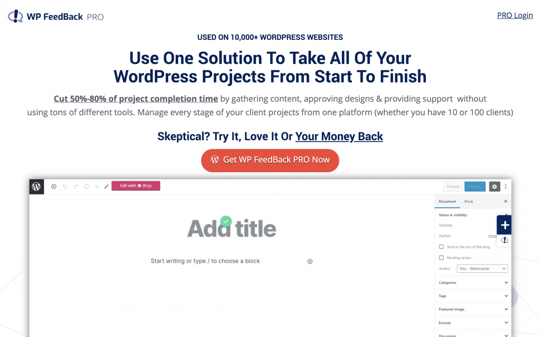 Review of WPFeedback – how I make it super easy for my clients to give me their content