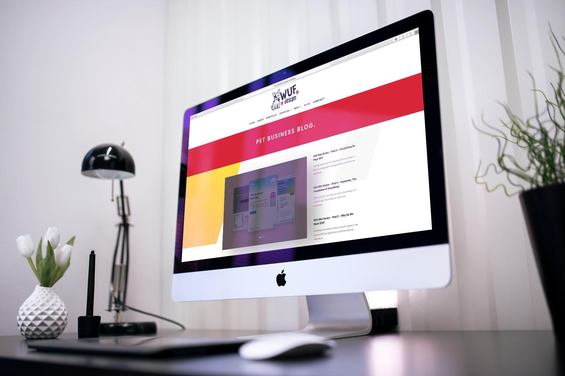 WUF design pet business blog